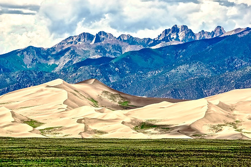 Colorado, Great Sand Dunes, mountains, sand, landscape, color, limited edition, fine art, photography