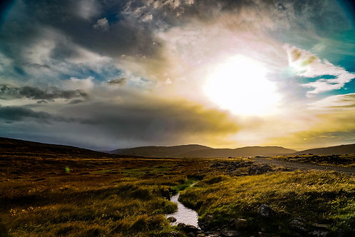 Iceland, West Iceland, landscape, sunset, roads, clouds, water, color, limited edition, fine art, photography