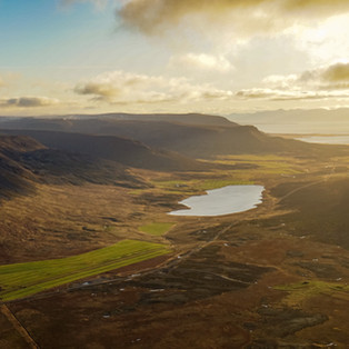 aerial photography at sunset