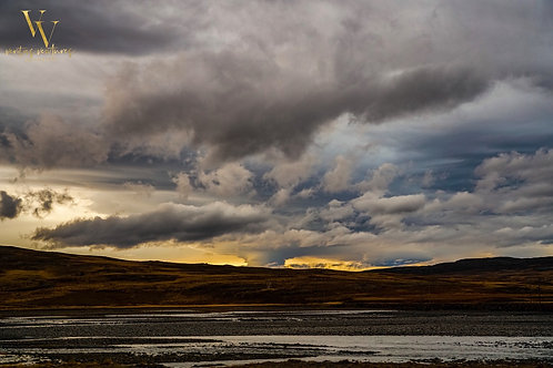 Iceland, West Iceland, landscape, storms, mountains, sunset, roads, color, limited edition, fine art, photography