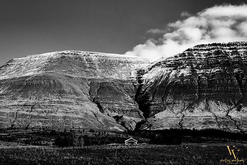 Iceland, North Iceland, landscape, mountains, roads, black and white, limited edition, fine art, photography