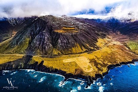 North Iceland Aerial Flight Dramatic