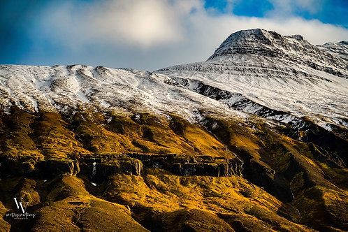 Iceland, North Iceland, landscape, snow, roads, clouds, mountains, color, limited edition, fine art, photography