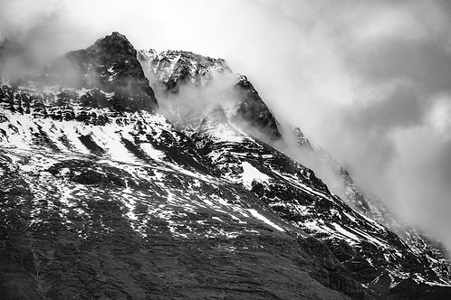Iceland, North Iceland, landscape, storms, mountains, snow, roads, black and white, limited edition, fine art, photography