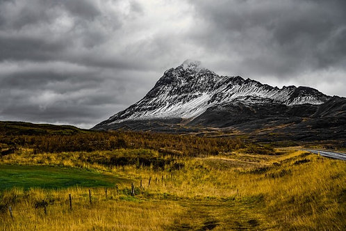 Iceland, North Iceland, landscape, mountains, roads, clouds, color, limited edition, fine art, photography