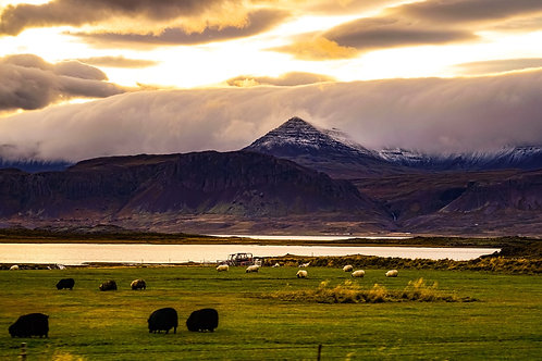 Iceland, West Iceland, landscape, storms, clouds, mountains, roads, color, limited edition, fine art, photography
