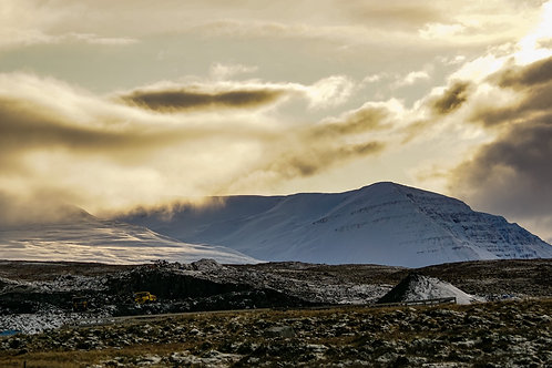 Iceland, West Iceland, landscape, mountains, sunset, roads, color, limited edition, fine art, photography
