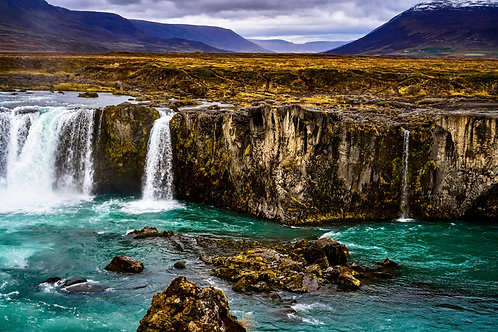 iceland, north iceland, landscape, waterfall, color, limited edition, fine art, photography