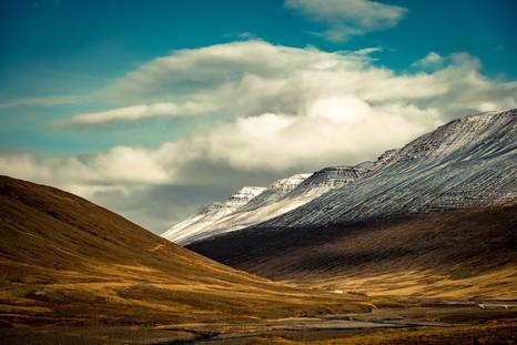 Valley Drive East of Akureyri Iceland