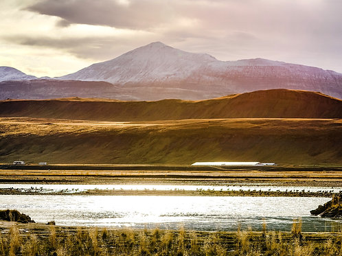 Iceland, North Iceland, landscape, mountains, roads, sunset, color, limited edition, fine art, photography