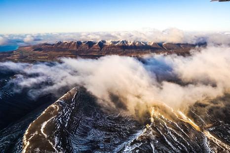 North Iceland Volcano Peak