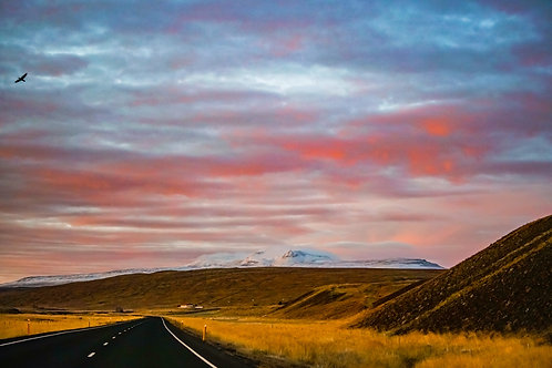 iceland, north iceland, landscape, mountains, roads, color, limited edition, fine art