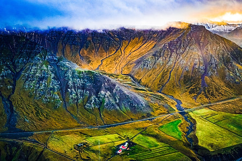 iceland, north iceland, landscape, aerial, airplane, mountains, color, limited edition, fine art, photography