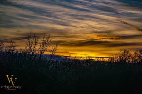 Kansas Lake Sunset