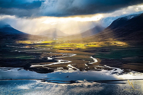 North Iceland Aerial Flight Dramatic Coast