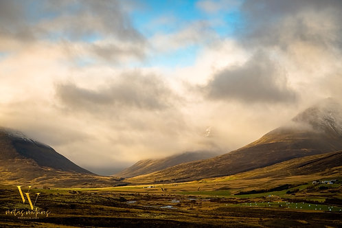 Iceland, North Iceland, landscape, mountains, roads, fog, color, limited edition, fine art, photography