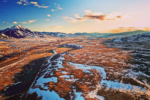 Montana, Wyoming, Yellowstone, mountains, drone, aerial, landscape, color, limited edition, fine art, photography