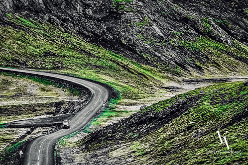 iceland, south iceland, landscape, mountains, roads, color, limited edition, fine art, photography