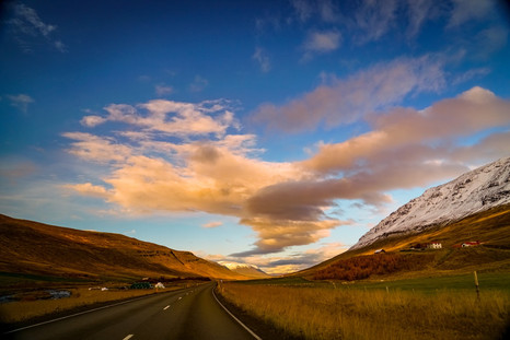 Drive Through Akureyri Valley