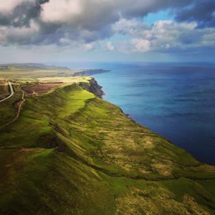 drone photography coastline