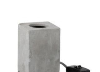 Lampe carré en ciment gris