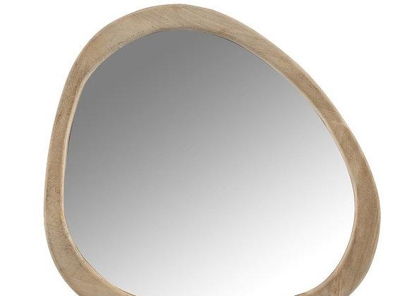 Miroir irrégulier en bois de manguier