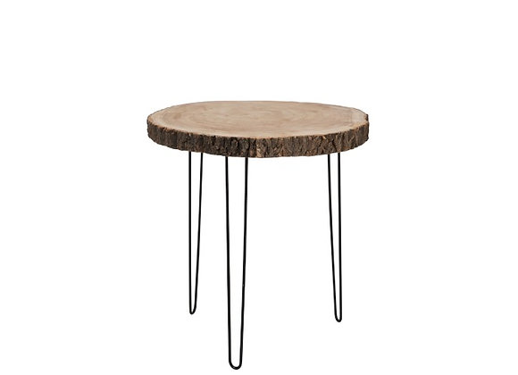 Table en bois et metal