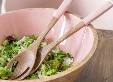 Couverts à salade en manguier