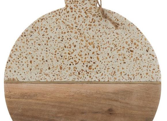 Planche à découper Terrazzo beige et bois