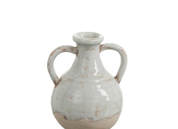Cruche en céramique gris