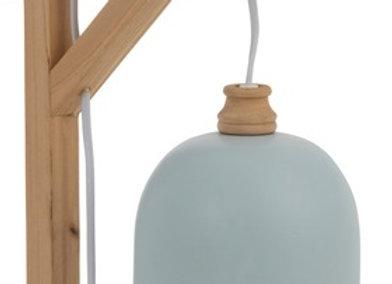 Lampe murale bleu clair