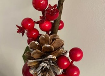 Branche décorative baies rouges