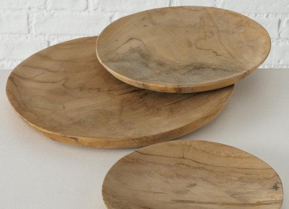 Assiette de présentation en bois