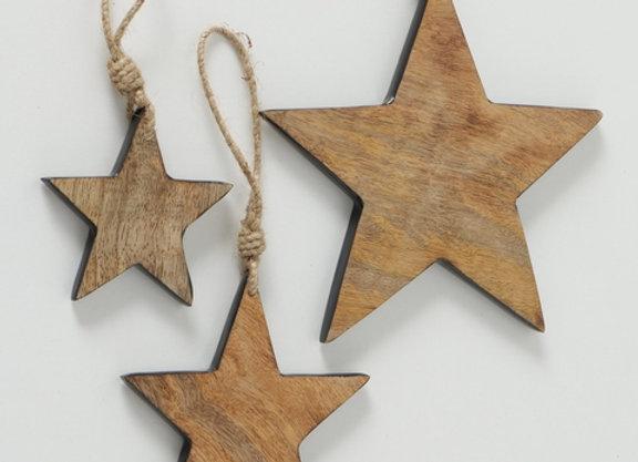 Ens 3 étoiles en bois