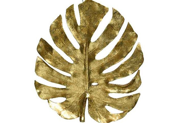 Feuille tropicale dorée