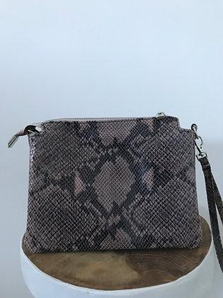 Elvira Snake Pink Leather Crossbody bag - Jijou Capri