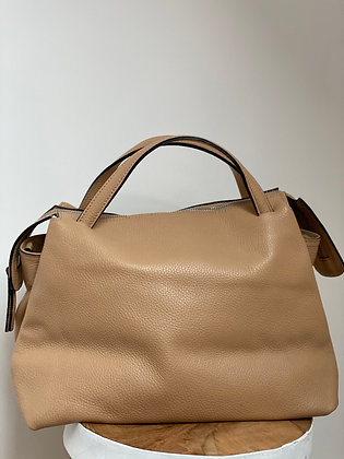 Jasmine Cream Leather Handbag - Jijou Capri