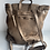 Thumbnail: Beige Zaino Intrecciate vintage Leather Backpack - Jijou Capri