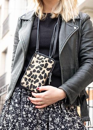 Cellphone Dalmatian Pony Leather Wallet - Jijou Capri