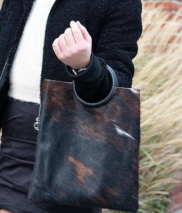 Cow Twiggy Pony Leather Handbag - Jijou Capri