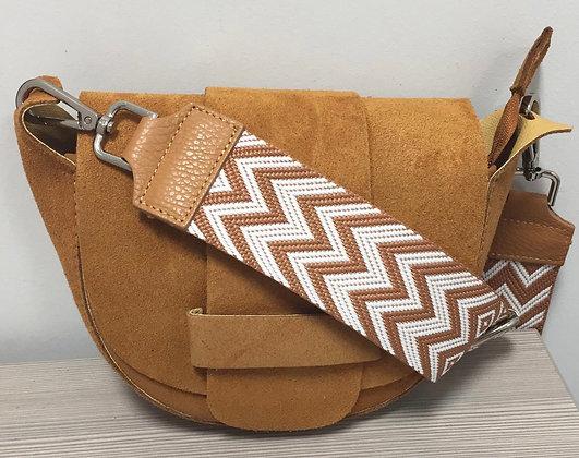 Vivi Suede Strap Crossbody Bag