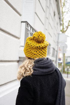 Hive Knit Beanie JJ83 Yellow - Jijou Capri