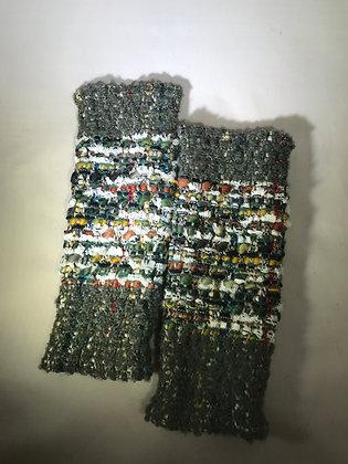 Woven Fingerless Gloves : 190575 Col 4 - Jijou Capri