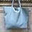 Thumbnail: Baby Blue Maxi Leather Tote Bag - Jijou Capri