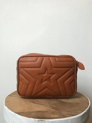 Camel Paris Stars Leather Crossbody - Jijou Capri