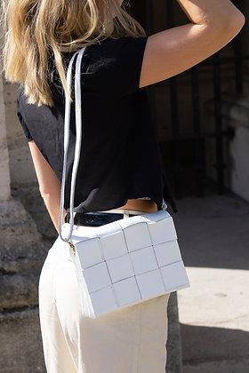 White Damier Crossbody Bag - Jijou Capri