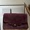 Thumbnail: Suzie Wine Suede Leather Crossbody Bag - Jijou Capri