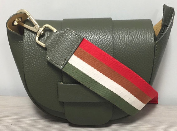 Vivi Leather Crossbody Fabric Strap