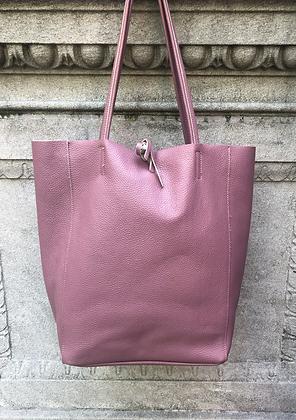 Pink Leather Tote Bag - Jijou Capri
