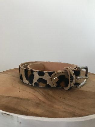 Belt Pony Leopard Leather - Jijou Capri
